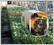 Master dujinių nešiojamų šildytuvų asortimento galios diapazonas - nuo 10 iki 103 kW.